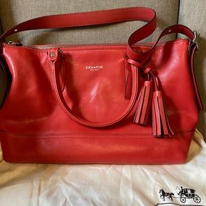 Red Coach Shoulder Purse